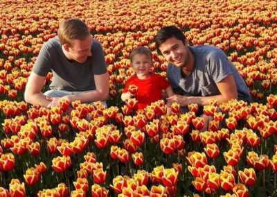 In het tulpenveld bij Mr Tulip Tours
